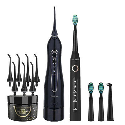 Fairywill Electric Toothbrush Rechargeable Water Flosser 3 Modes Teeth Whitening