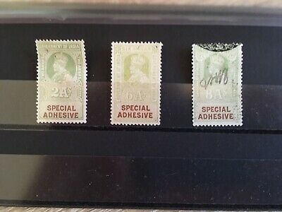 Stamps India George V Special Adhesive 3 Values 2,6 & 8 Annas