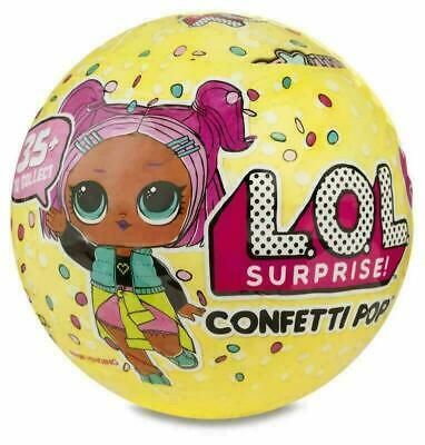LOL Surprise Confetti Pop Kids Ball Glitter Series Children Xmas Gift Item Toy