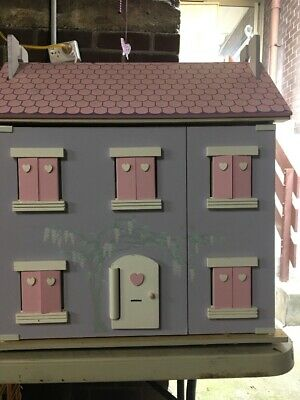 Large Doll House, Wood Furniture And Dolls
