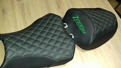 Black And Green Kawasaki Z1000Sx 2017-18 Front Rear Seat Covers