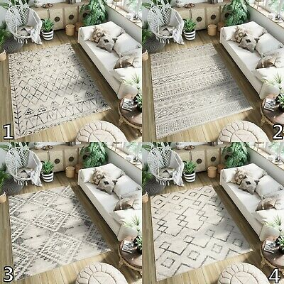 Cream Small Extra Large Size Area Rugs Ethno Style Bedroom Soft Designer Rugs