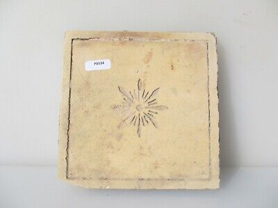 "Victorian Ceramic Floor Tile Architectural Antique 1800's Old Star ""Maw & Co"""