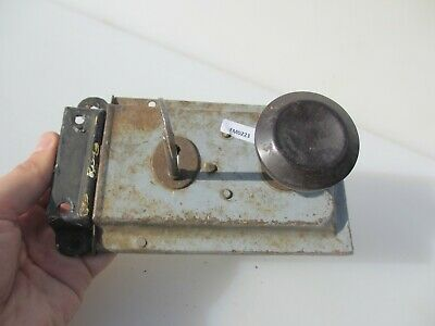Antique Art Deco Bathroom Door Lock Bakelite Knobs Handles Vintage Old Bolt Key