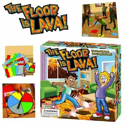 HOT! The Floor is Lava! Interactive Board Game for Kids and Adults (Ages 5+) Fun