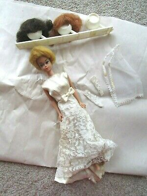 VTG Midge 1962 BARBIE 1958 Doll with Blonde Bubblecut Wig WIG LOT