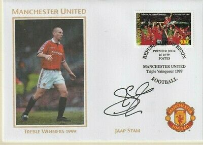 1999 Manchester United Treble Winners Cover Hand Signed Jaap Stam