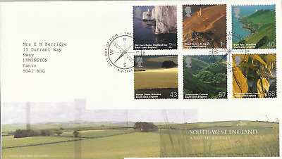 8 FEBRUARY 2005 SOUTH WEST ENGLAND ROYAL MAIL FIRST DAY COVER THE LIZARD SHS (l)