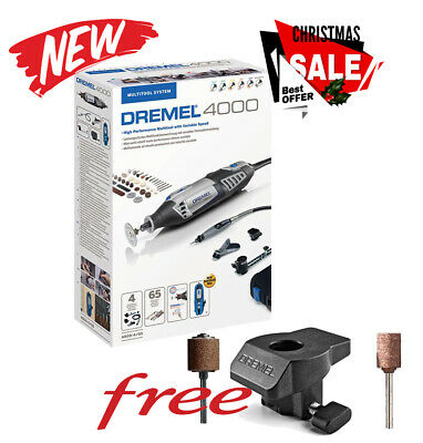 Dremel 4000-65 Rotary Multi Tool With Flex Shaft & Acc + 576