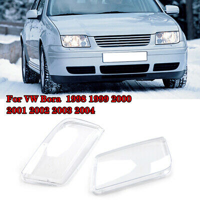 For 99-05 Vw Jetta Bora Mk4 Helix Replacement Glass Headlight Lenses - Pair