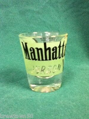 Manhattan bourbon shot glass bar glasses 1 shots shooters barware glassware AB9