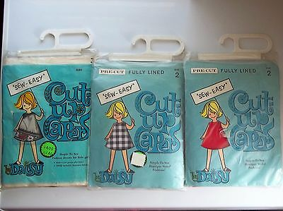 VINTAGE FABRICS 3 NEW SEW EASY Cut-Up Capers by Daisy PRE - CUT Making Kits