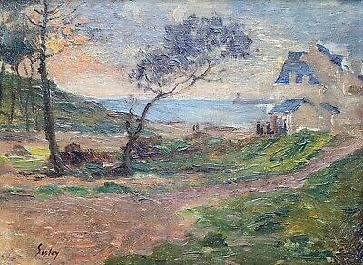 Alfred Sisley (1839-1899) Signed French Impressionist Oil Landscape With People