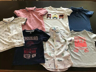 Boys Clothing Bundle 2-3 Year Polo And T Shirts 7 Items Excellent Condition.