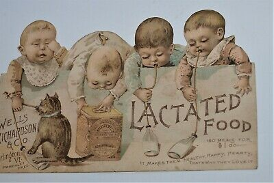 Antique Trade Card for Lactated Food, Double Sided