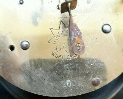 Antique clock Dial  and Movement spares or repair