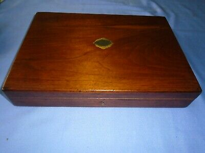 Vintage Collectable  Mahogany Wood Canteen Of Cutlery Box Storage Box