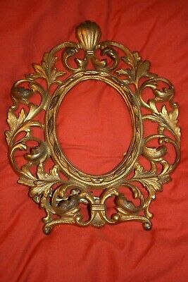"""Victorian Gilt Metal Photo Frame  Free Standing    10""""  by  8""""  Fine quality"""
