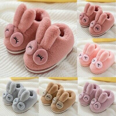 Kids Baby Girls Boys Winter Warm Children Toddler Indoor Rabbit Flock Shoes Soft