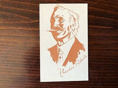 THEODORE ROBERTS Rare Caricature Trading Card Silent Film Actor 1920
