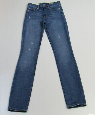 Women's Gap Slim Straight Stretch Distressed Vintage Blue Jeans Size 26R : 3117