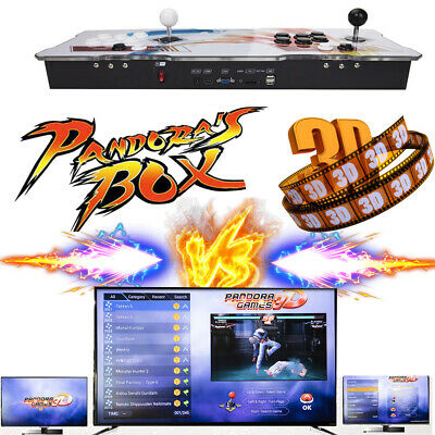 Upgraded Pandora's Box 3D 2448 in 1 Retro Arcade Console Double Stick Support EU