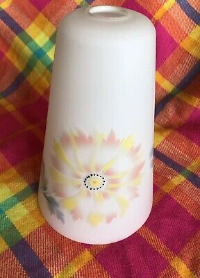 Vintage atomic era milk glass lampshade starburst flower power 60s mid century
