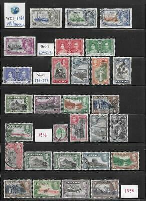 WC1_3468 BRITISH COLONIES. CEYLON. 1935-1938 valuable lot. MH/Used