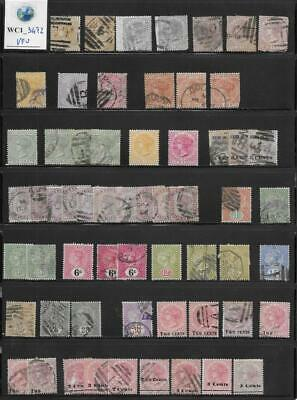 WC1_3472 BRITISH COLONIES. CEYLON. Dealer stock valuable 1863-1885 stamps. Used