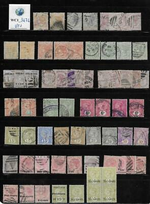 WC1_3474 BRITISH COLONIES. CEYLON. Dealer stock useful of 1872-1885 stamps. Used