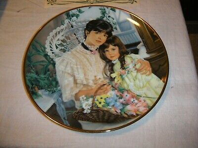 "Sandra Kuck ""A Cherished Time"" Mothers Day 1987 Collector Plate  Reco with COA"