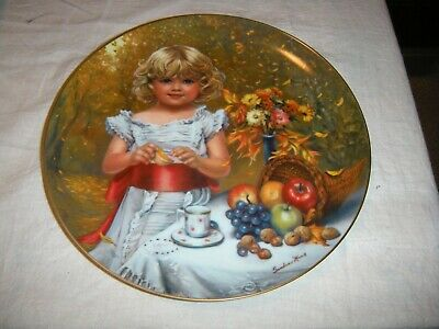 "Sandra Kuck Childhood Almanac Titled ""Indian Summer"" Collectors Plate w/COA"