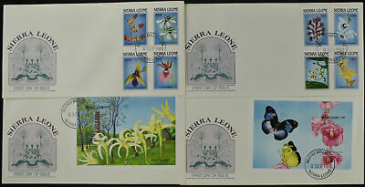 Sierra Leone 1989 Orchids Set Of 4 FDC's #C54529