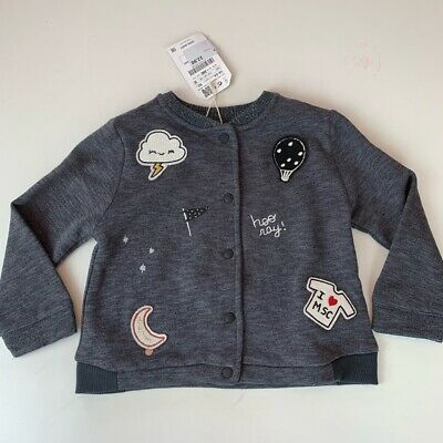 NWT. Zara girls Bomber jacket with appliqué. Size 12-18.