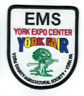 York PA Pennsylvania Fair Expo Center EMS patch - NEW!