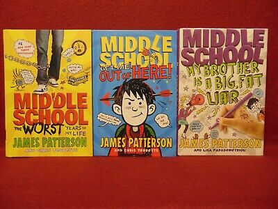 MIDDLE SCHOOL The Worst Years of My Life Book Series #1-3 by James Patterson HB