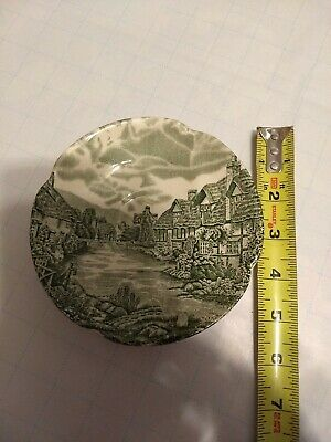 Vtg Olde English Countryside Johnson Bros.ironstone England Green Plate