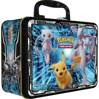 Pokemon TCG Fall 2019 Collectors Chest Tin Lunchbox Armored Mewtwo Sun & Moon