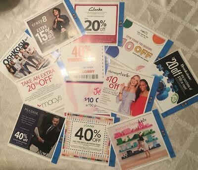Lot of Coupons - Kids Clothes Macys OshKosh Justice JoAnn & More!  Save $$