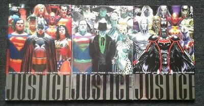 DC Justice hardcover lot of three (complete series)