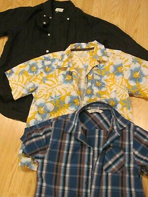 Lot 3 BOYS Dressy Mixed Button Down SPRING SHIRTS: TCP Old Navy  Size Large