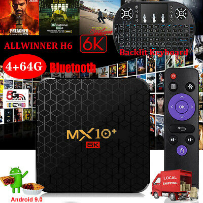 2019 MX10 MAX Android 9.0 4+64G 6K TV BOX Backlit I8 2.4G WIFI 3D ALLWINNER UK