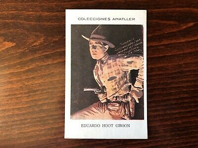 HOOT GIBSON Rare Trading Card Silent Film Actor 1930 printed Autograph