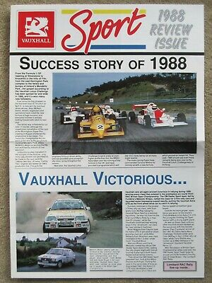 Vauxhall Sport review issue 1988