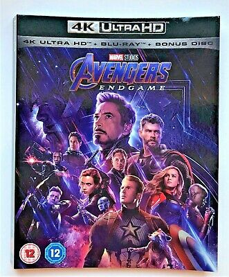 MARVEL - AVENGERS: ENDGAME (2019) 4K Ultra HD - Sleeve Only, No discs Included