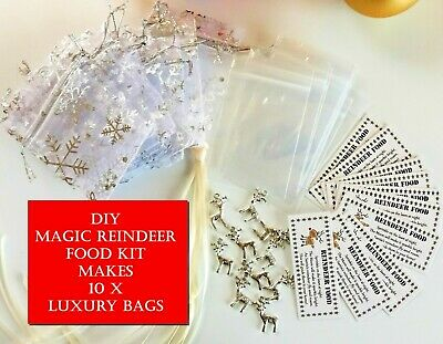 10x DIY MAGIC REINDEER FOOD Kit Magical Christmas Kids Activity Tradition Tags