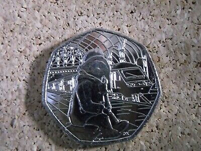 Paddington Bear at the Station 50p 2018 Fifty Pence coin x 1 in VGC free post