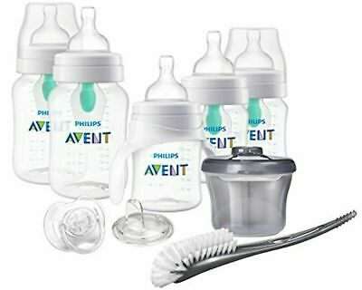 Philips Avent Anti-Colic Baby Bottle with AirFree Vent Beginner Gift Set Clear,