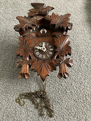 Classic House Clearance Attic Find Mini Cuckoo Wall Clock. Spares Or Repair