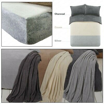 TEDDY FLEECE Supersoft Fluffy Warm Cosy Snuggle Duvet Cover Quilt Cover Set